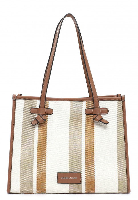 EMILY & NOAH Shopper Esther mittel Braun 62750798 cognac-stripes 798