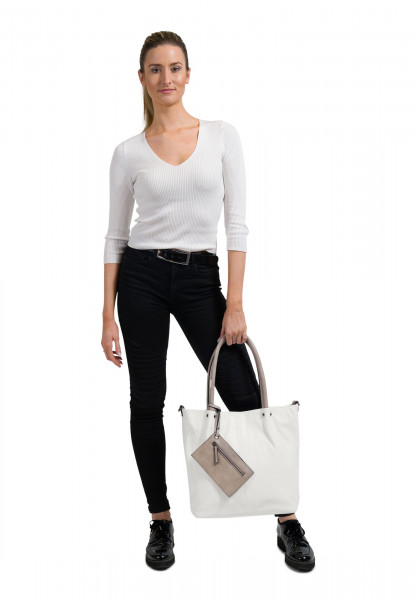 EMILY & NOAH Shopper Bag in Bag Surprise Weiß 400308 white grey 308