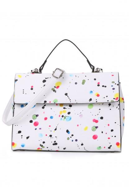 Handtasche mit Überschlag Priscilla No.2 quer