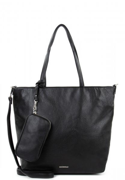 EMILY & NOAH Shopper Bag in Bag Surprise mittel Schwarz 311100 black 100