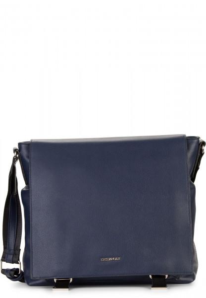 EMILY & NOAH Handtasche mit Überschlag Luna groß Blau 62263500 blue 500