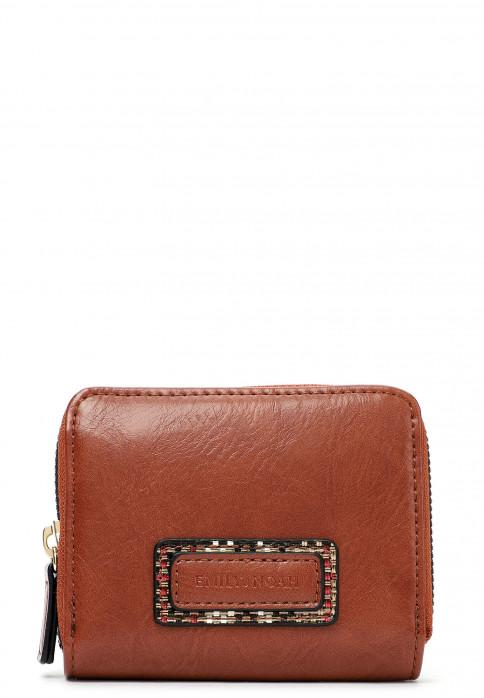 EMILY & NOAH Geldbörse mit Reißverschluss Desiree  Braun 62470700 cognac 700