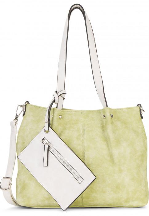 EMILY & NOAH Shopper Bag in Bag Surprise Grün 299933 green/ecru 933