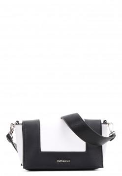 EMILY & NOAH Handtasche mit Überschlag Priska klein Schwarz 61630100 black 100
