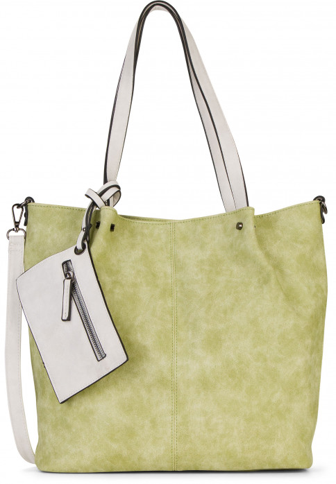 EMILY & NOAH Shopper Bag in Bag Surprise Grün 300933 green/ecru 933