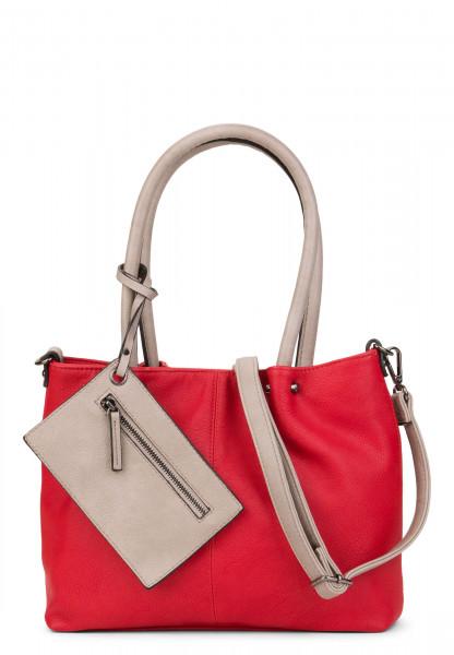 EMILY & NOAH Shopper Bag in Bag Surprise Rot 399608 red grey 608