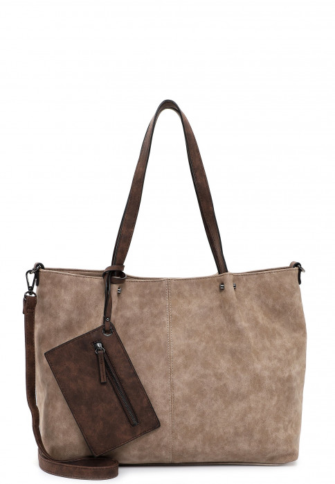 EMILY & NOAH Shopper Bag in Bag Surprise Grau 301902 taupe brown 902