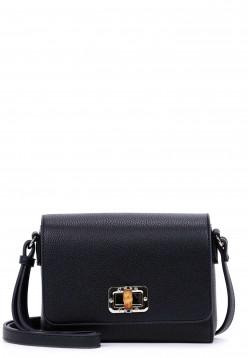 EMILY & NOAH Handtasche mit Überschlag Lexa klein Schwarz 62210100 black 100