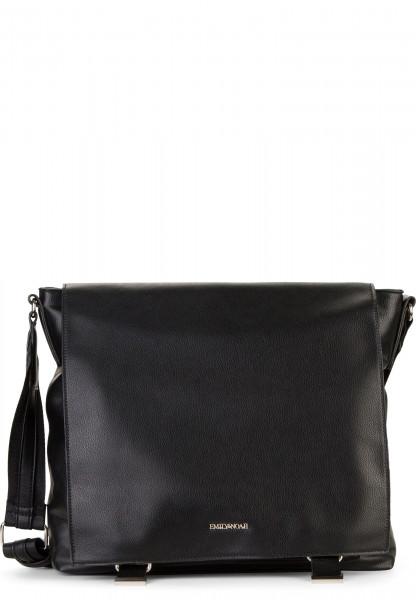 EMILY & NOAH Handtasche mit Überschlag Luna groß Schwarz 62263100 black 100