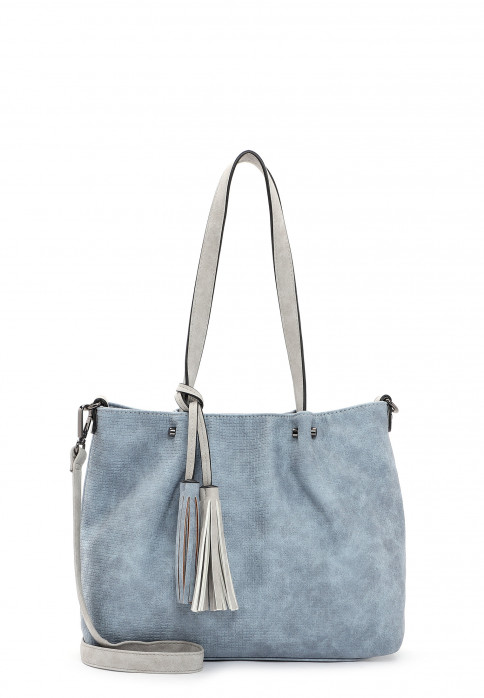 EMILY & NOAH Shopper Bag in Bag Surprise klein Blau 330538 sky grey 538