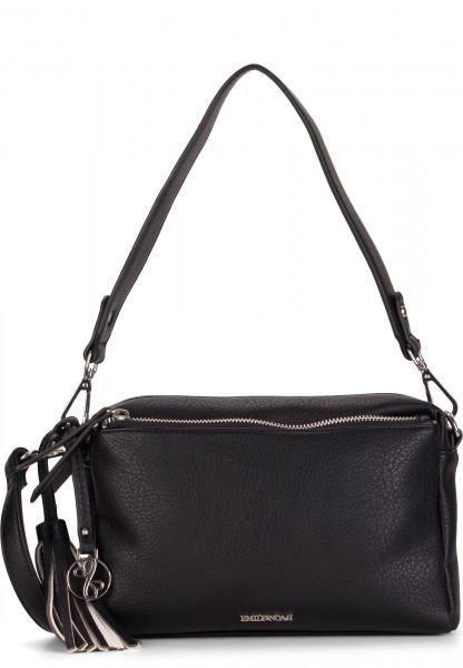 EMILY & NOAH Handtasche mit Reißverschluss Leonie mittel Schwarz 62081100 black 100