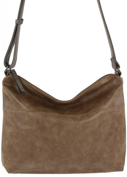 Emily & Noah Svenja Handtasche mit Reißverschluss taupe grey 900