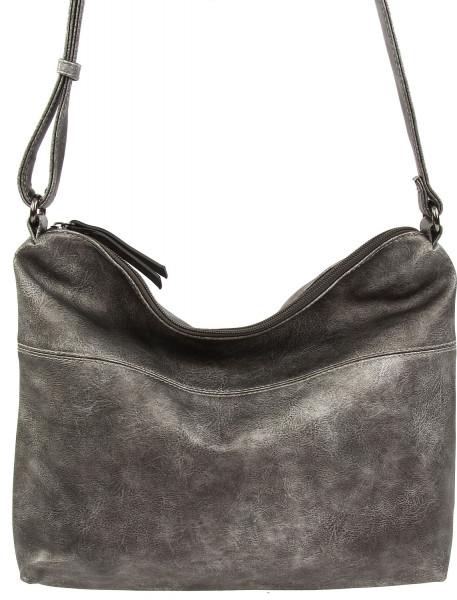 Emily & Noah Svenja Handtasche mit Reißverschluss antiksilber 830