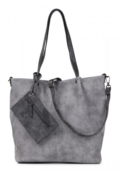 EMILY & NOAH Shopper Bag in Bag Surprise Grau 300808-1790 grey darkgrey 808