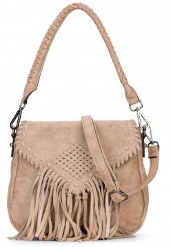 EMILY & NOAH Handtasche mit Überschlag Samantha Braun 61734900 taupe 900