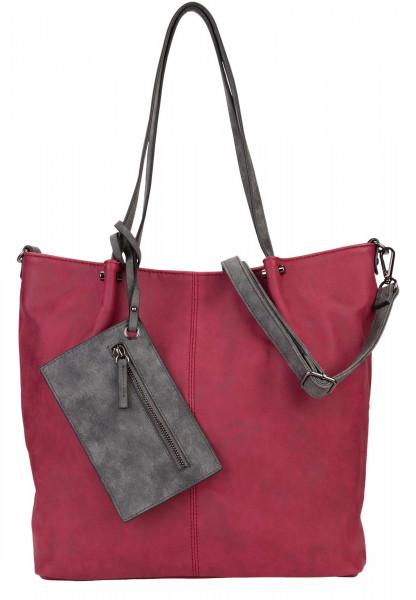 EMILY & NOAH Shopper Bag in Bag Surprise Rot 300608 red grey 608