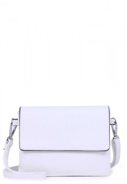EMILY & NOAH Handtasche mit Überschlag Emma mittel Weiß 61722300 white 300