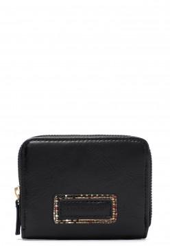 EMILY & NOAH Geldbörse mit Reißverschluss Desiree  Schwarz 62470100 black 100