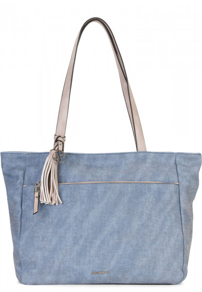 EMILY & NOAH Shopper Laura groß Blau 62003500 blue 500