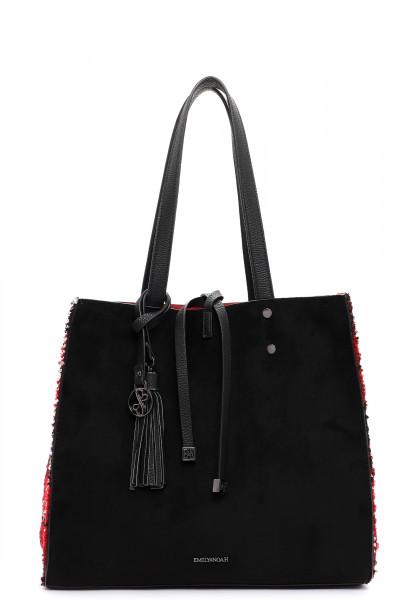 EMILY & NOAH Shopper Denise mittel Schwarz 62624106 black/red 106