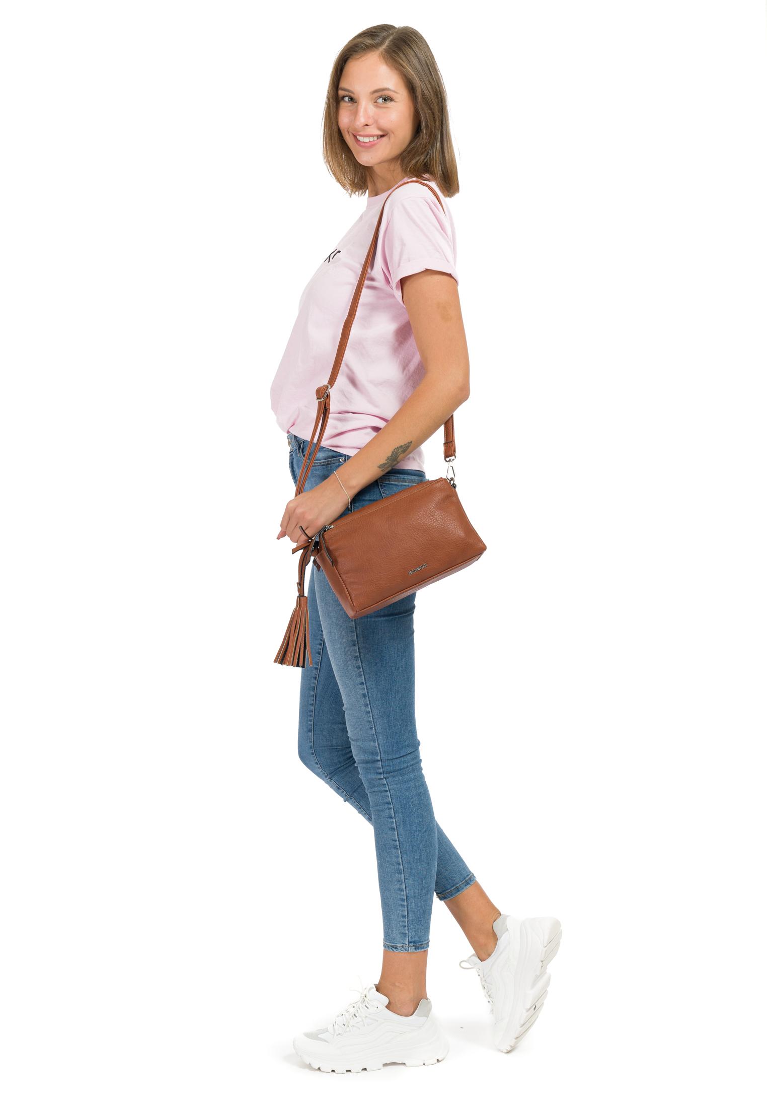 Handtasche mit Reißverschluss Leonie mittel